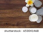zen composition of stones and... | Shutterstock . vector #653041468
