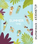 vector illustration. summertime ... | Shutterstock .eps vector #653048719