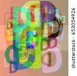 d alphabet elements idea | Shutterstock .eps vector #653054926