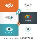 collection of visual media... | Shutterstock .eps vector #653067454