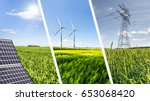 renewable energies concept... | Shutterstock . vector #653068420