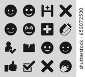 positive icons set. set of 16... | Shutterstock .eps vector #653072530