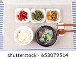 korean set table   Shutterstock . vector #653079514