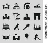 history icons set. set of 16... | Shutterstock .eps vector #653081134