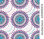 african pattern design in blue  ... | Shutterstock .eps vector #653090374
