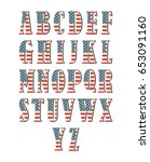 capital 3d letter alphabet with ...   Shutterstock .eps vector #653091160
