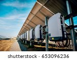 back view of solar panel.... | Shutterstock . vector #653096236
