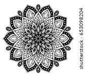 mandalas for coloring book.... | Shutterstock .eps vector #653098204