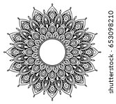 mandalas for coloring book.... | Shutterstock .eps vector #653098210