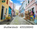 salvador  brazil   march 9 ... | Shutterstock . vector #653100043