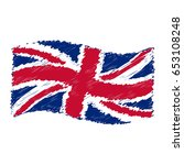 uk flag   union jack   grunge...   Shutterstock .eps vector #653108248
