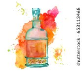 A Watercolor Drawing Of A...