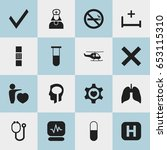 set of 16 editable hospital...