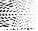 abstract halftone dotted... | Shutterstock .eps vector #653118823