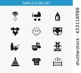 set of 12 editable infant icons....