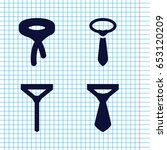 set of 4 dresscode filled icons ... | Shutterstock .eps vector #653120209