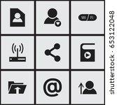 set of 9 editable internet...
