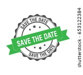 save the date stamp illustration | Shutterstock .eps vector #653122384