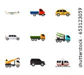 set of 9 editable vehicle icons....