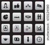 set of 16 editable job icons....