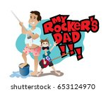 happy father's day  you're my... | Shutterstock .eps vector #653124970