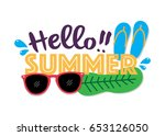 summer sale background layout... | Shutterstock .eps vector #653126050
