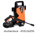 pressure washer. isolated on... | Shutterstock . vector #653126350
