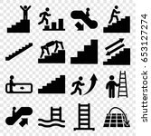 staircase icons set. set of 16...   Shutterstock .eps vector #653127274