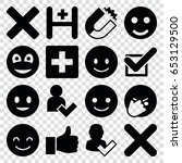 positive icons set. set of 16... | Shutterstock .eps vector #653129500