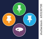 tack icons set. set of 4 tack... | Shutterstock .eps vector #653130730
