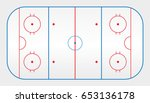 vector of ice hockey rink  | Shutterstock .eps vector #653136178