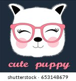cute puppy illustration vector... | Shutterstock .eps vector #653148679