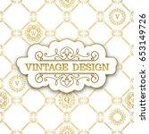 vector calligraphic  frame.... | Shutterstock .eps vector #653149726