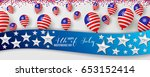 usa. happy independence day of... | Shutterstock .eps vector #653152414