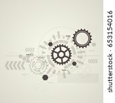 abstract technological... | Shutterstock .eps vector #653154016