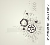 abstract technological... | Shutterstock .eps vector #653154040
