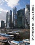 Small photo of Russia, 27/04/2017: the new skyline with the skyscrapers of Moscow International Business Center, know as Moscow City, a commercial district in Presnensky District on the Moskva River