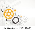 abstract technological... | Shutterstock .eps vector #653157079