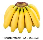 baby banana isolated