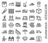 shipping icons set. set of 36... | Shutterstock .eps vector #653161108