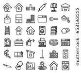 home icons set. set of 36 home... | Shutterstock .eps vector #653163223