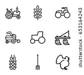 agricultural icons set. set of... | Shutterstock .eps vector #653164243