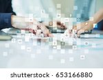 virtual screen interface with... | Shutterstock . vector #653166880