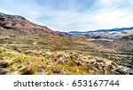 Small photo of View of the Mountains and Thompson River on a cold winter day from Juniper Beach Provincial Park in the Thompson River Valley between Kamloops and Cache Creek in central British Columbia