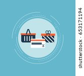 online shopping  e commerce ...   Shutterstock .eps vector #653171194
