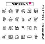 retail shop icon vector...