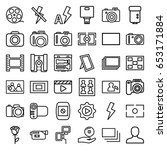 picture icons set. set of 36... | Shutterstock .eps vector #653171884