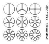 circle segments set. various... | Shutterstock .eps vector #653172004