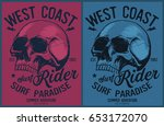 vintage surfing graphics and... | Shutterstock .eps vector #653172070