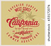 vintage surfing graphics and... | Shutterstock .eps vector #653172076